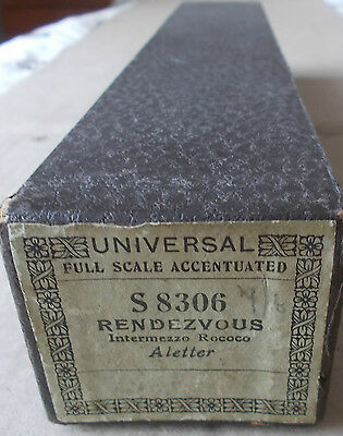 Vintage pianola roll - RENDEZVOUS.  Aletter.   Universal ref. S 8306