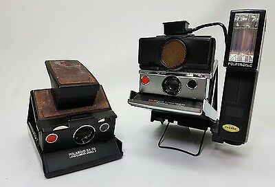 2x Polaroid Sx-70 Sonar Autofocus with Extras Untested