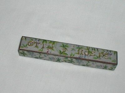Antique Victorian Otto Of Roses Perfume Scent Bottle Related Rimmel Box Early