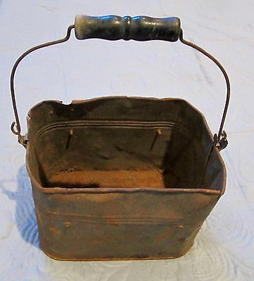 Rare Vintage Antique Miners Tin Metal Lunch Box Pail