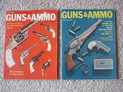 2 Issues of Guns & Ammo Magazines, April & August 1959