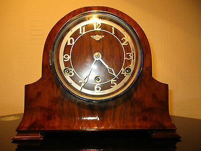 Fine Example Of A Hamburg American Westminster Chiming Mantle Clock ( Working )