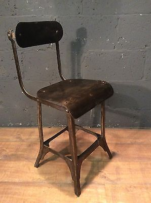 vintage industrial machinists / draughtmens chair