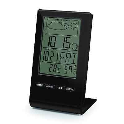 Digital Temperature Humidity Meter Thermometer Alarm Clock / Calendar / /Weather