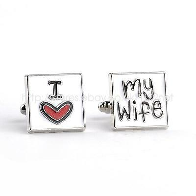 Brother father of bride groom I love my wife best man wedding PARTY CUFF LINKS