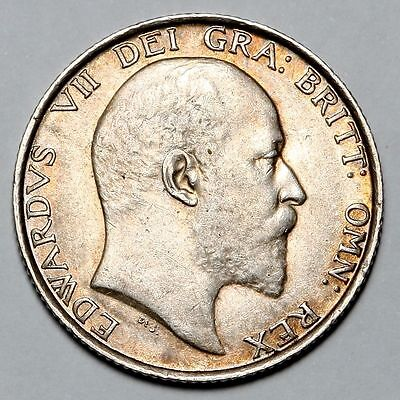 Great Britain Uk 1902 1 Shillling Edward Vii Unc - Au Silver Coin