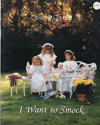 Oliver Goodin I Want to Smock Book 10 Smocking Plates for Boys & Girls OOP