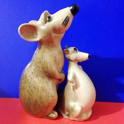 Rats porcelain figurines Souvenirs from Russia Mice Small Pets rodents