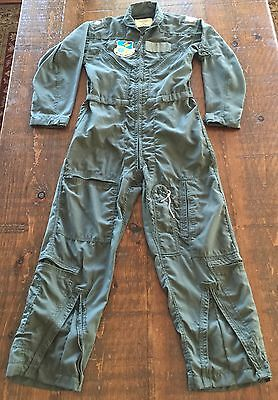 Vintage Lt. Colonel Air Force Military Flight Coveralls Suit CWU-27/P Size 38 S