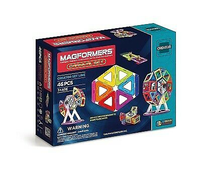 NEW!!  Magformers Fairy Wheel Creator Set 46 Pieces Carnival Magnetic
