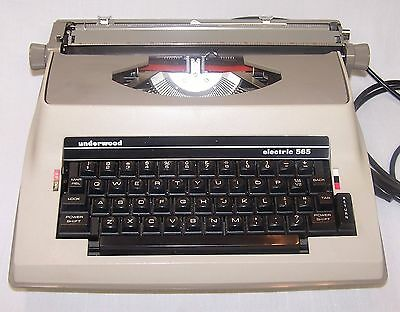Underwood Portable Electric Typewriter 565 and case