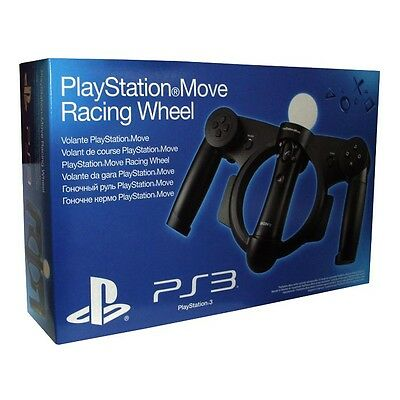 NEW Official Sony PlayStation 3 Move Racing Wheel PS3