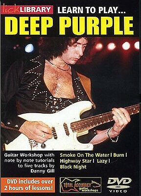 Lick Library LEARN TO PLAY DEEP PURPLE Ritchie Blackmore Guitar Lesson Video DVD