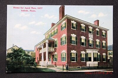 c.1910 Postcard Street View of the Home for Aged Men in Salem, Mass. - Unposted