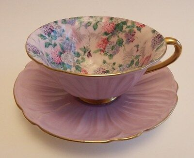 Rare Shelley Oleander Summer Glory Cup and Saucer.