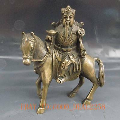 Chinese Bronze Hand-Carved Statue ---- Horse & Fortuna