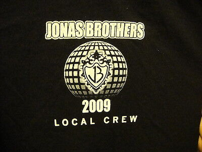 JONAS BROTHERS ~ RARE LOCAL CREW ONLY ~ TOUR 2009 ~ XL ~ T Shirt