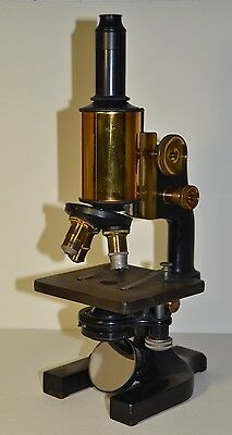 BEAUTIFUL ANTIQUE SPENCER MICROSCOPE CAST IRON & BRASS No.73092 EXCELLENT COND.