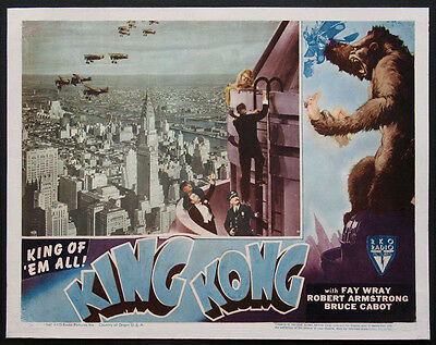 King Kong Fay Wray Empire State Building R-1946 Lobby Card