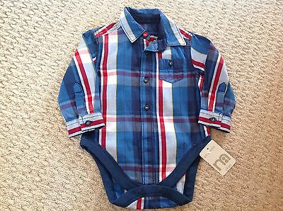 Mothercare Boys Baby Grow Shirt 6-9 Months