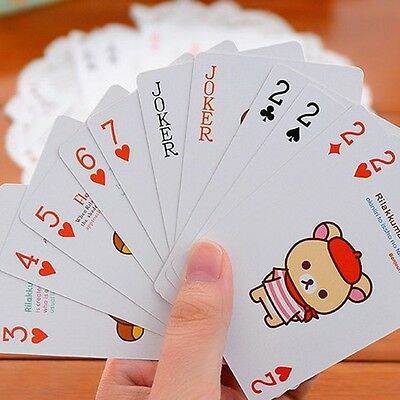 NEW Portable Cartoon Bear Poker Entertainment Playing Cards 6*9CM