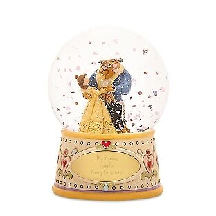 Disney Traditions Jim Shore beauty and the Beast Snow Globe 348851