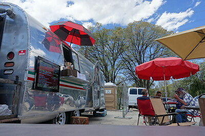 Airstream food truck concession trailer