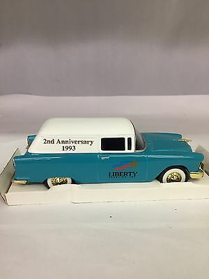 Collectible Liberty Classics Die Cast 1955 Chevy Delivery Car Bank, 483-I