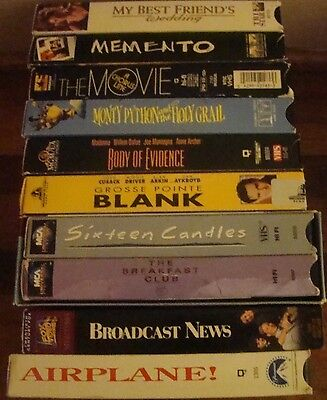VHS Lot Of 10 Various and Miscellaneous VHS Movies