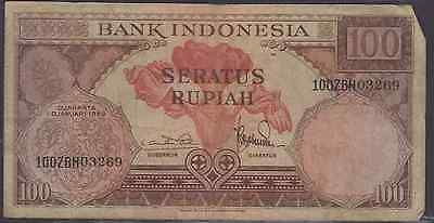 1959 bank of Indonesia 100 Rupiah Note