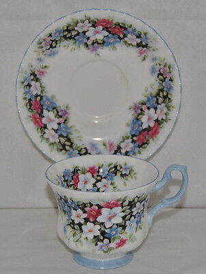 """Royal Albert Fragrance Series """"Clematis"""", Fine Bone China, Tea Cup and Saucer"""