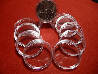 CANADIAN COIN CAPSULES   36mm  (pkg of 10 ) SILVER DOLLARS (#6)
