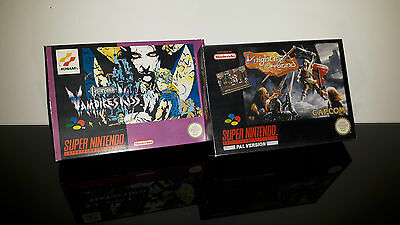 Castlevania Vampires Kiss & Knights of the Round Hülle SNES - Box Case OVP Super