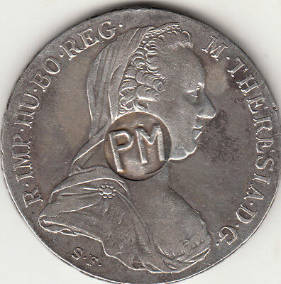 P M ( Province Of Mozambique ) Counter Marked on I THALER MARIA THERESA Portugal