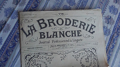 Vintage French Embroidery Pattern Journal / Magazine Monograms designs Date 1921
