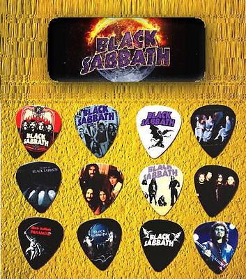 BLACK SABBATH Guitar Pick Tin includes 12 Guitar Picks