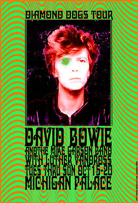 DAVID BOWIE DIAMOND DOGS TOUR with LUTHER VANDROSS DETROIT by CARL LUNDGREN 1974