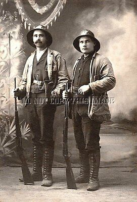Antique Repro 8X10 Photo Hunters Savage Model 99 Winchester Lever Rifles
