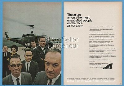 1966 Bell UH-1 Iroquois Huey Helicopter US Army AVCO Scientists Engineers Ad