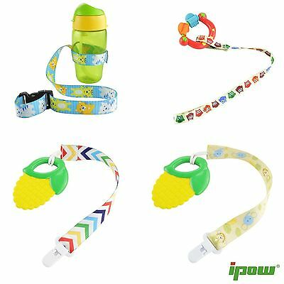 4Pcs Universal Baby Bottle Toys Safety Strap Belt Pacifier Holders Organizer Set