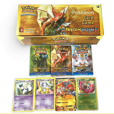 17 Pcs Pokemon TCG Booster Box English Edition Break Point Cards New Toy Gift