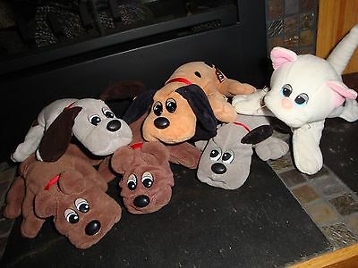 """Tonka Vintage 8"""" Pound Puppies and Pound Pur-r-rie Lot"""