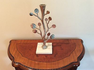 MICHAEL ARAM BOTANICAL LEAF CANDLEHOLDERS NEW RETAILS FOR $200.00set Of Two
