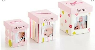NEW Pearhead Little Keepsake Set, Perfect For Baby, Pink. Free Shipping