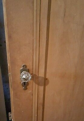 """Antique """"Miracle Doors"""" with mortise lock and glass door knobs"""
