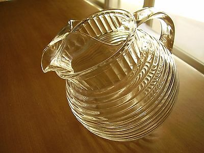 Manhattan Ribbed Clear Tilted Juice Pitcher 24 Ounce FREE SHIPPING