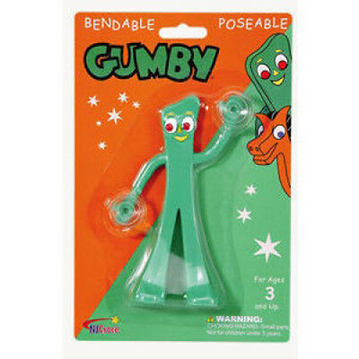 GUMBY ( DANGLER SUCTION CUP ) Poseable Cartoon Toy Figure