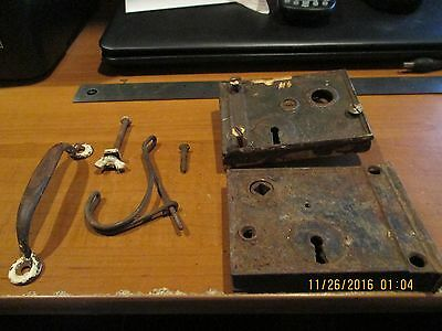 VERY OLD Vintage Antique  Door Lock REPAIR OR PARTS LOT COLLECTION HANDLE