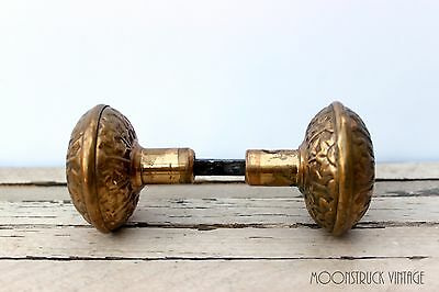 Antique Eastlake Brass Doorknob Set Victorian Hardware