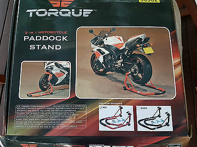 Motorcycle paddock stand, Torque brand, never used